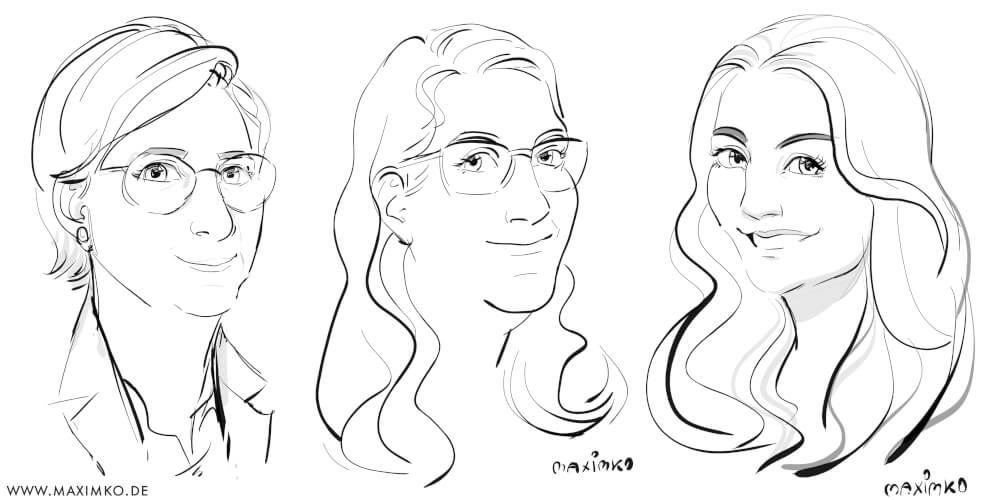 schnellzeichner in berlin digitale portraits karikaturen weiblich ipad-zeichner maximko
