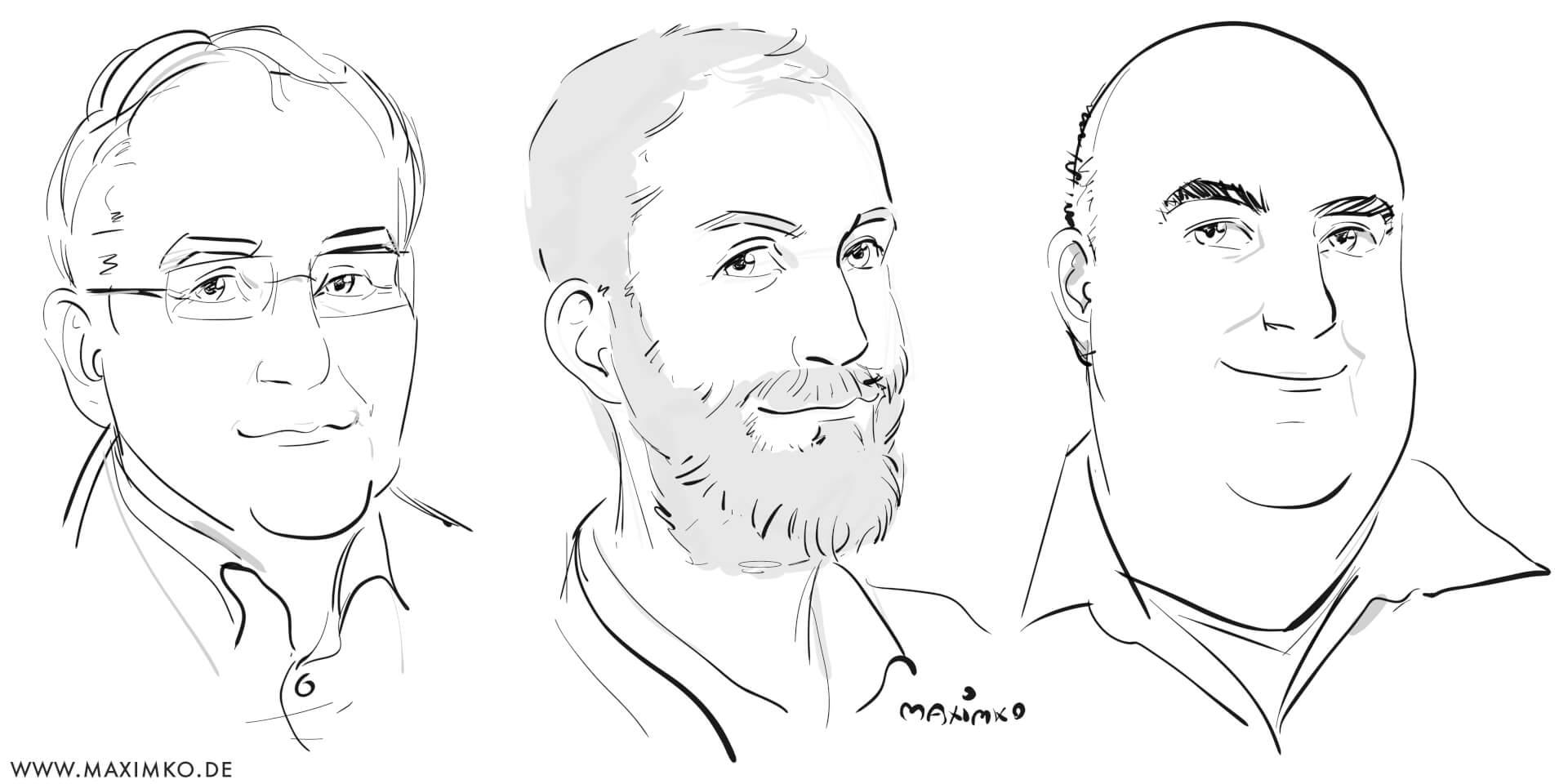 portraits maenner schnellportrait eventzeichner schnellzeichner maxim simonenko