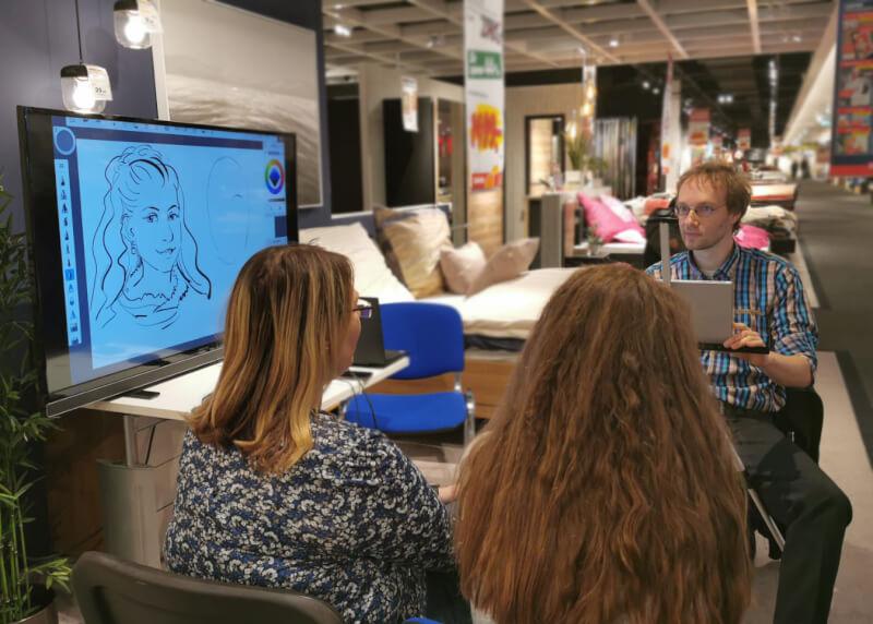 messezeichner maximko segmüller digital karikatur portrait ipad surface eventzeichner schnellzeichner simonenko