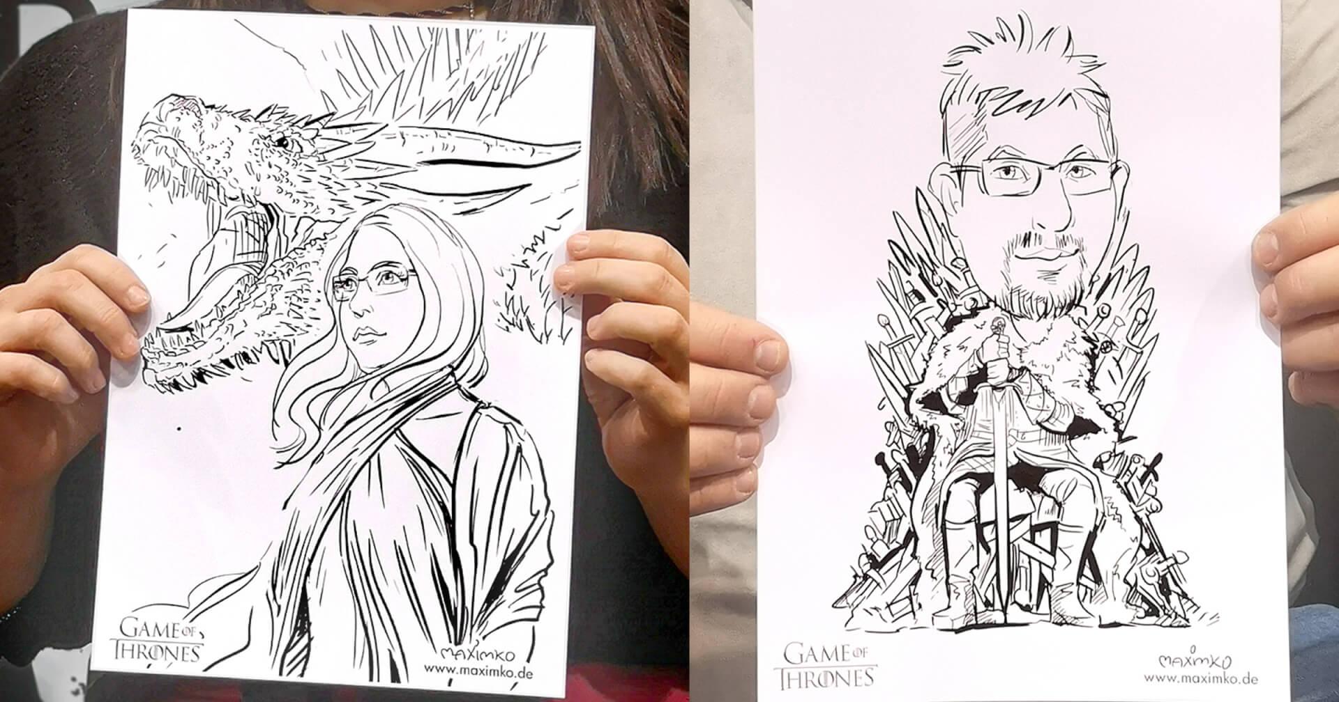schnellportrait karikatur zeichnen maxim simonenko maximko messe comic con