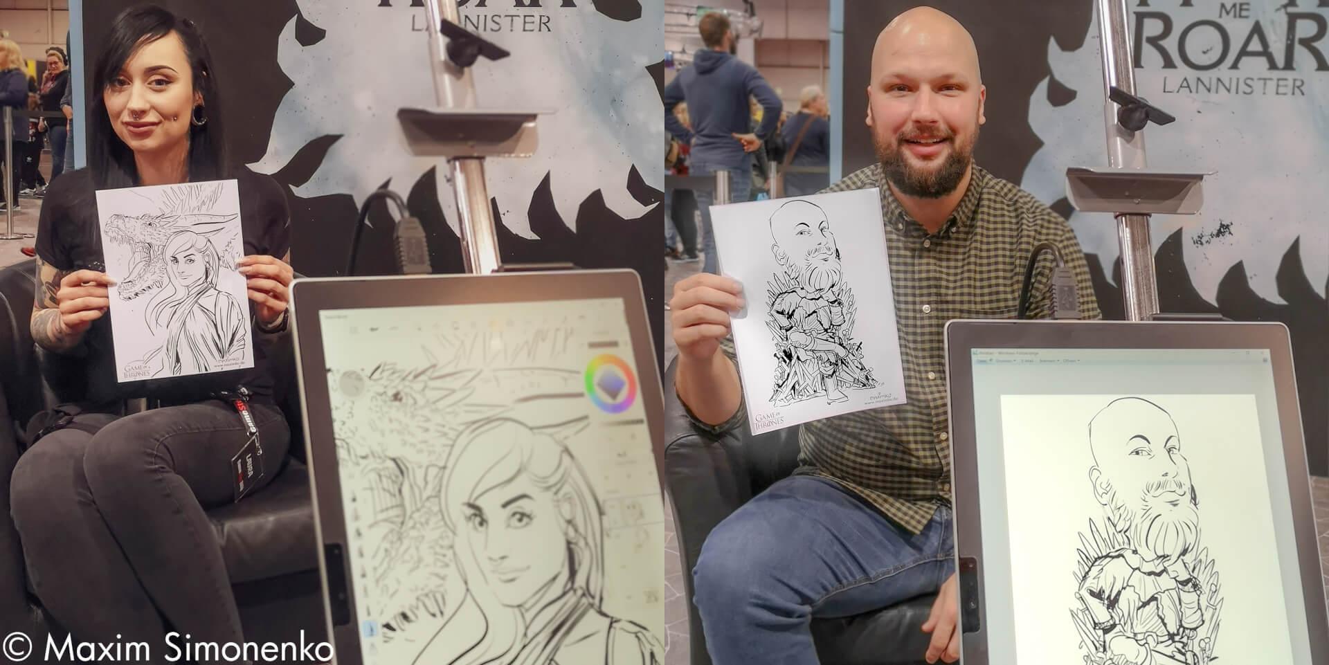 schnellzeichner in dortmund comic con gezeichnete karikaturen schnellportraits von maximko2