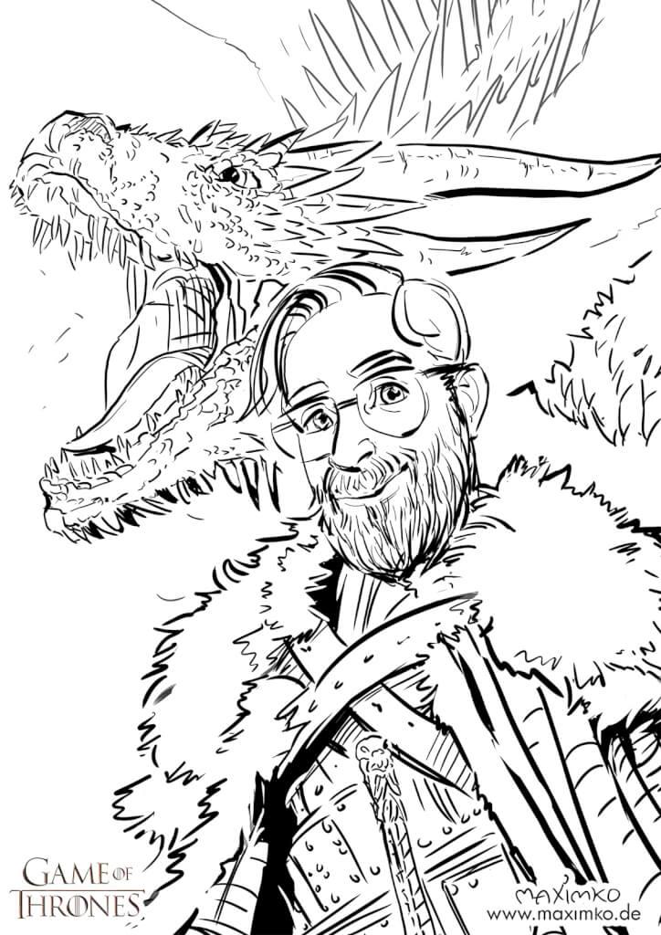 karikaturist messezeichner maximko segmüller digital karikatur portrait ipad surface eventzeichner schnellzeichner simonenko