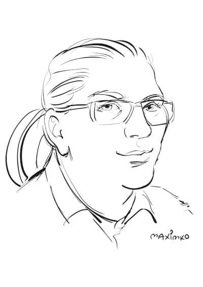 messezeichner schnellzeichner karikaturist maxim simonenko karikatur porträt ipadzeichner digital
