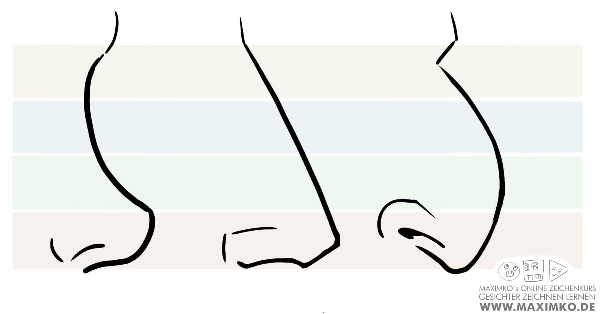nase zeichnen lernen tutorial online kurs krumme nase himmelfahrtsnase maximko