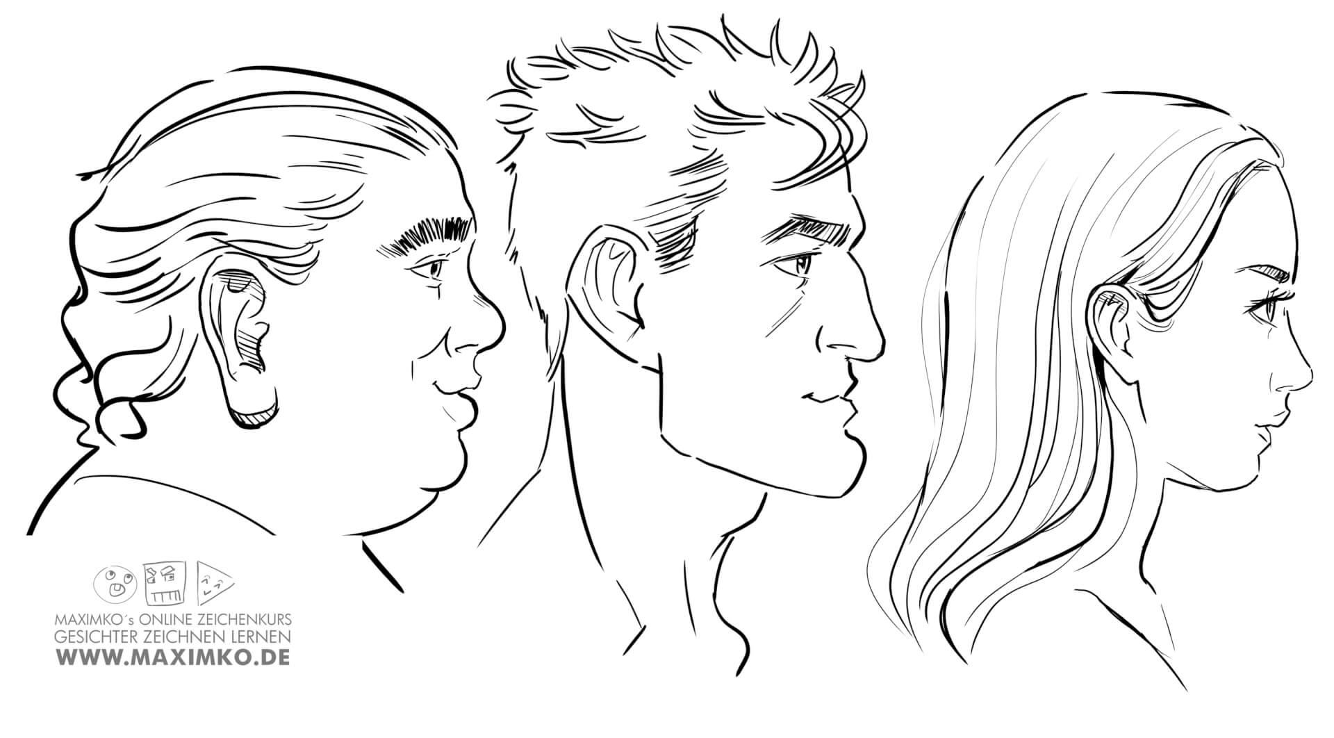 nase zeichnen lernen tutorial online kurs workshop how to draw nose maximko