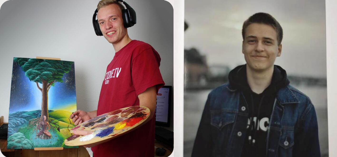 willi schlese marvin hoffmann profilfotos fuer podcast maximko