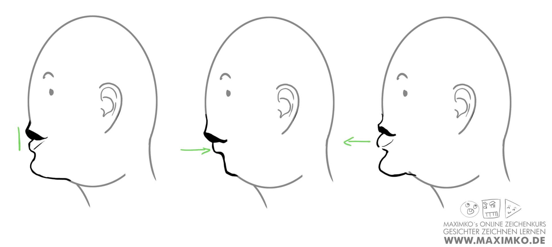 mund und lippen zeichnen lernen tutorial grosse unterlippe grosse oberlippe maximko