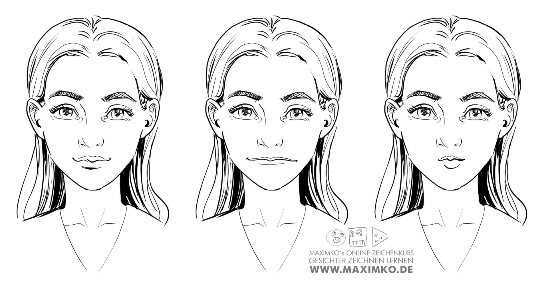 mund und lippen zeichnen lernen tutorial online kurs maximko