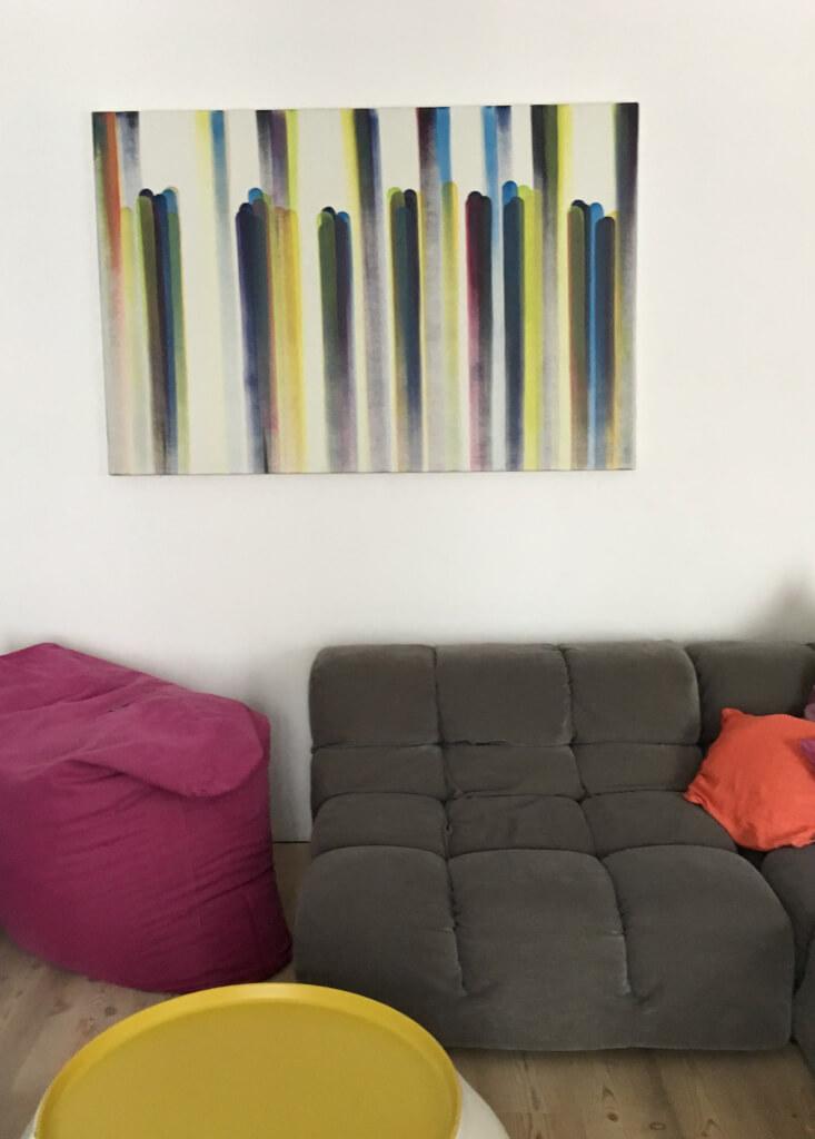 Bild ueber der Couch   Bild 2 Bernhard Paul modulation 02 2014 Acryl auf Leinwand 100 x 150 cm