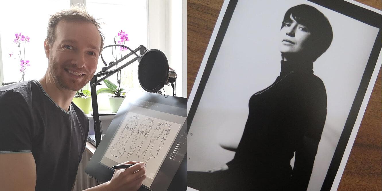 als kuenstler in einer kunstgalerie ausstellen maxim simonenko anna franek podcast