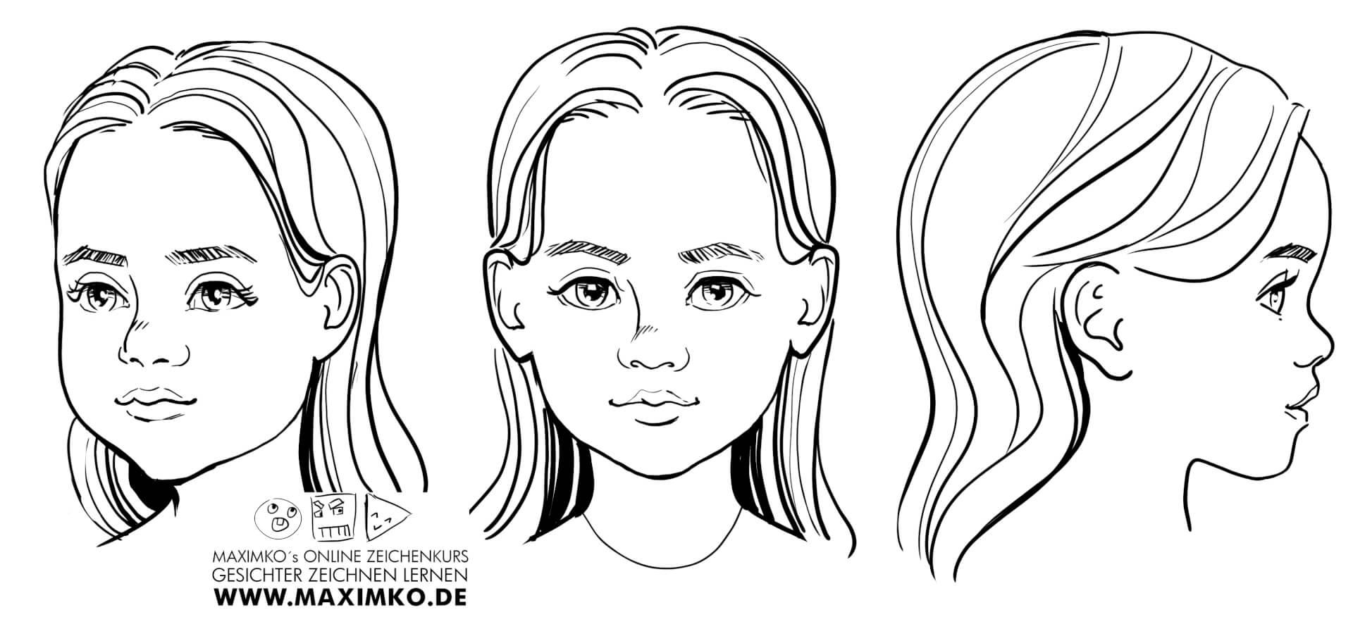 gesichter zeichnen lernen online baby babys kind kinder zeichnen schritt für schritt anleitung maxim simonenko