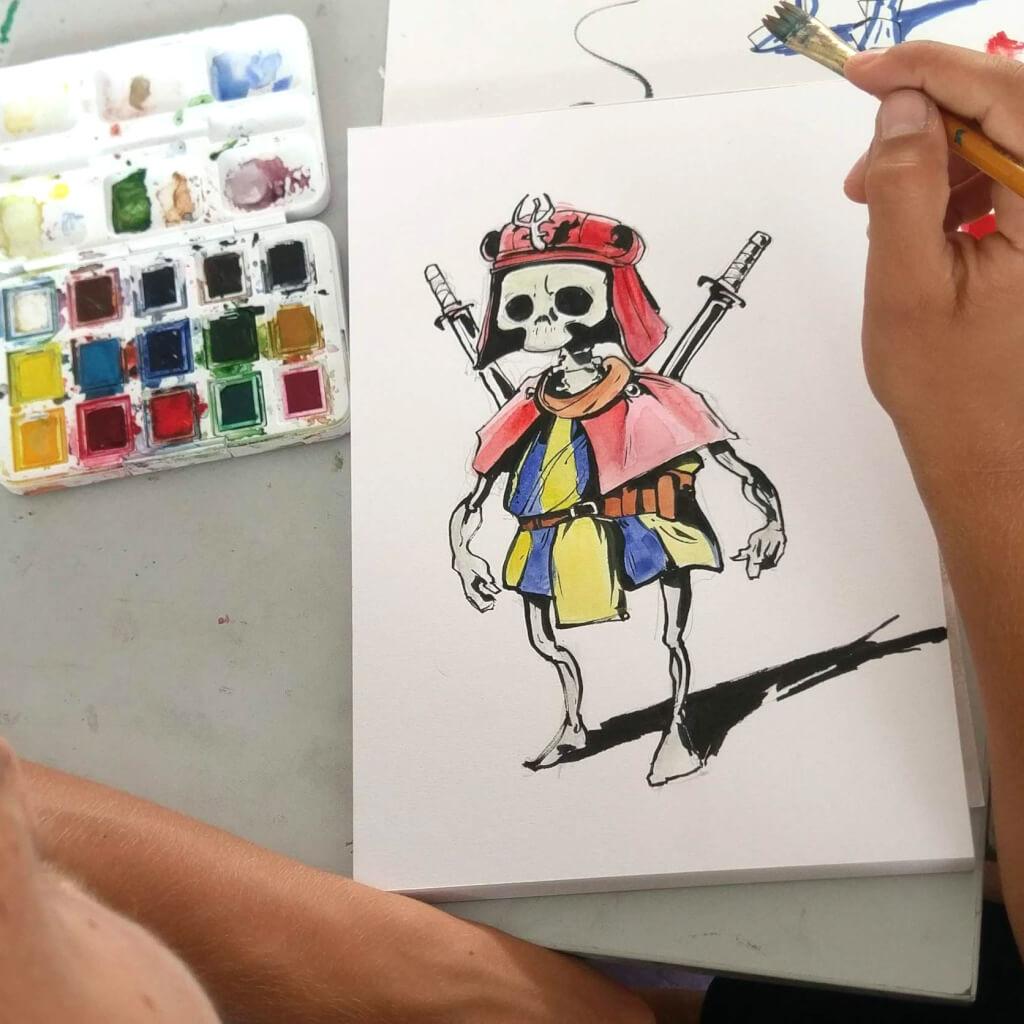manga zeichnen lernen online zeichenkurs skelett anime