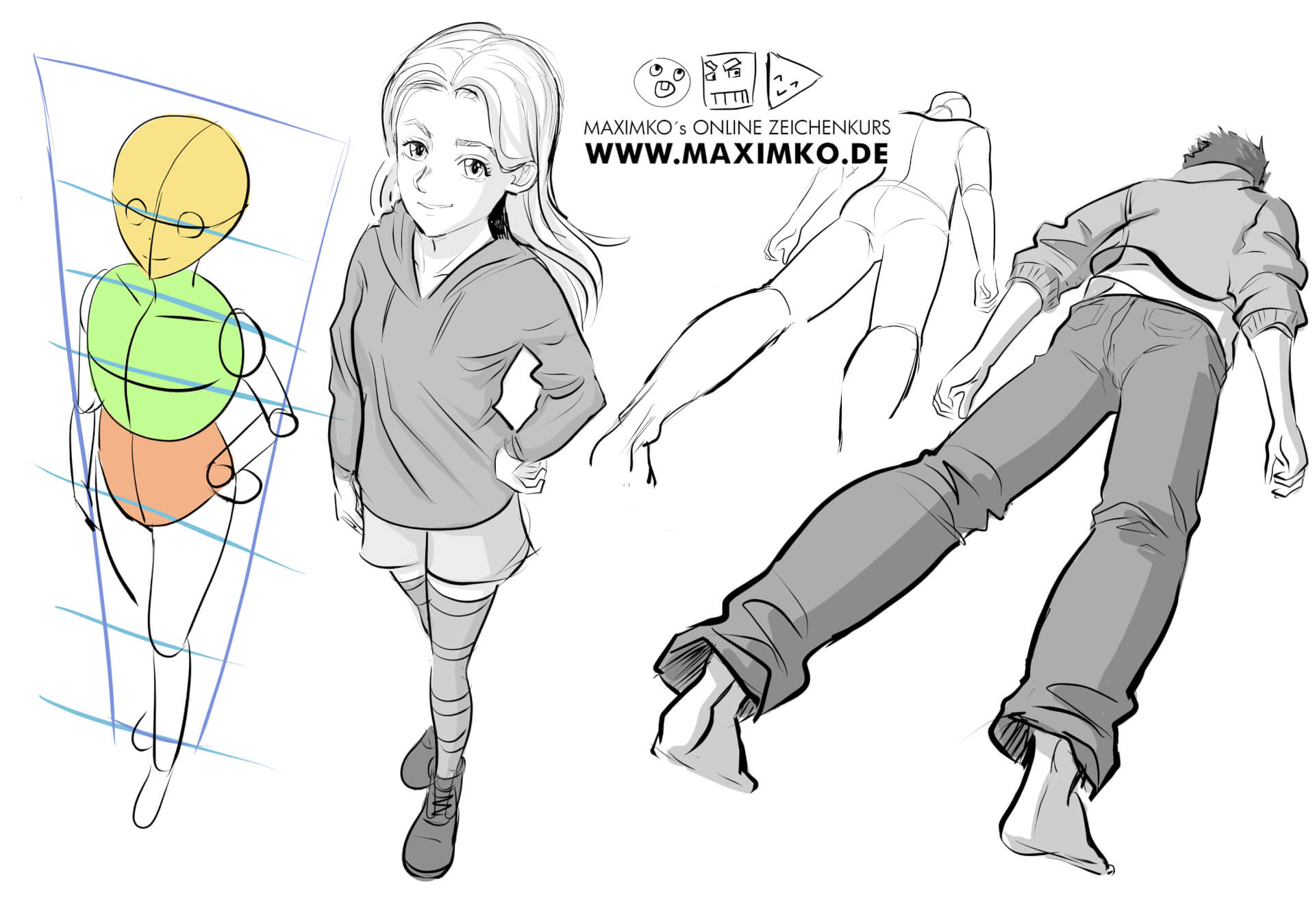 gesicht zeichnen lernen maxim simoneko manga comic concept art schattierung schatten kernschatten schlagschatten kurs lichtpunkt