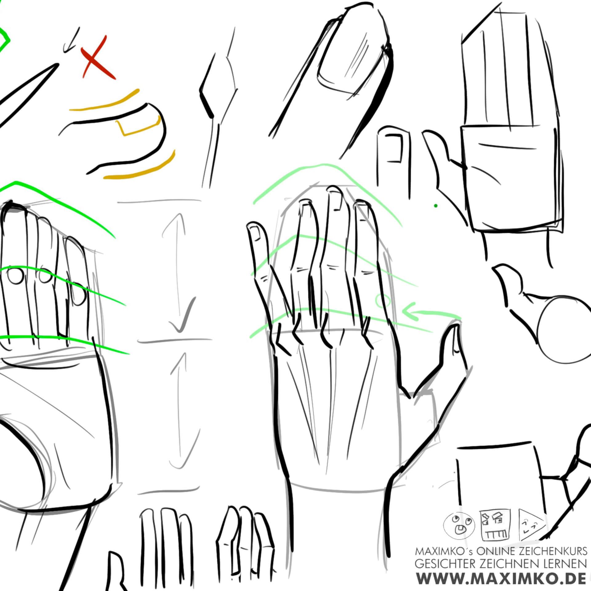 anime zeichnen für anfänger manga kurs hand fuß beine arme anatomie lernen tutorial schritt für schritt maximko