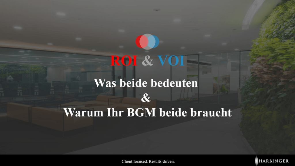 BGM VOI ROI Return on Investment Value on Investment betriebliches Gesundheitsmanagement Rendite