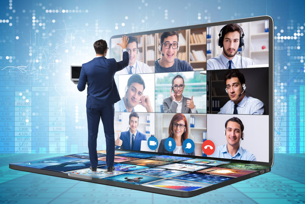 AdobeStock 376245009 performance management video call teams call remote work