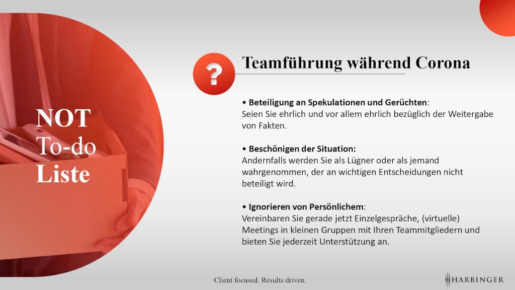 Teamfuehrung Corona kommunikation Aufgaben fuehrungsfehler motivtion umgang mit mitarbeiten leadership gruppe covid 10 krisenfuehrung page 0001