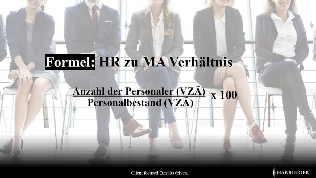 Formel fuer berechnen Groesse der Personalabteilung vs Anzahl Mitarbeier HR MA Verhaeltnis HR Employee Verhaeltnis page 0001