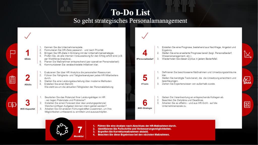 Strategisches Personalmanagement Instrumente Handlungsfelder Aufgaben To do List  page 0001