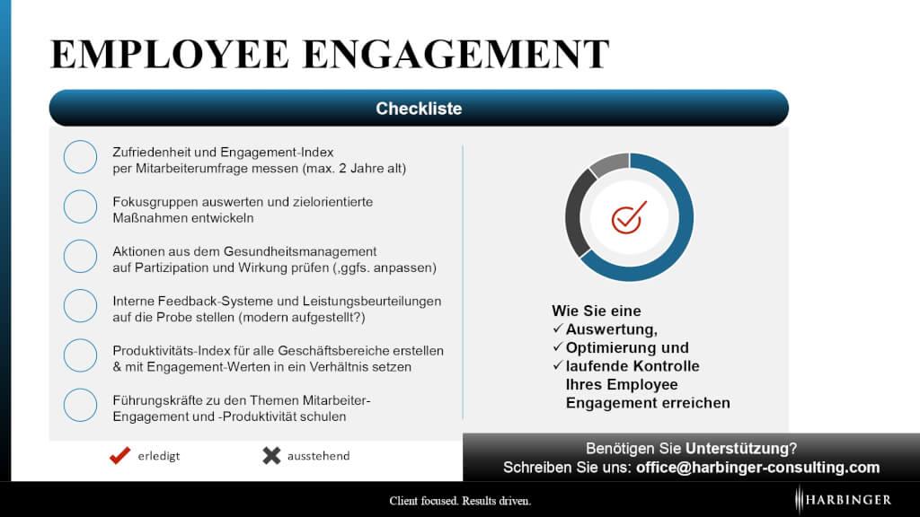 Emplyoee Engagement Motivation Mitarbeiter Produkvitiaet Checkliste BGM Beratung page 0001