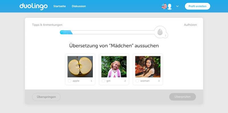 Sprache bei Duolingo lernen
