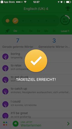 Die spielerische App Memrise