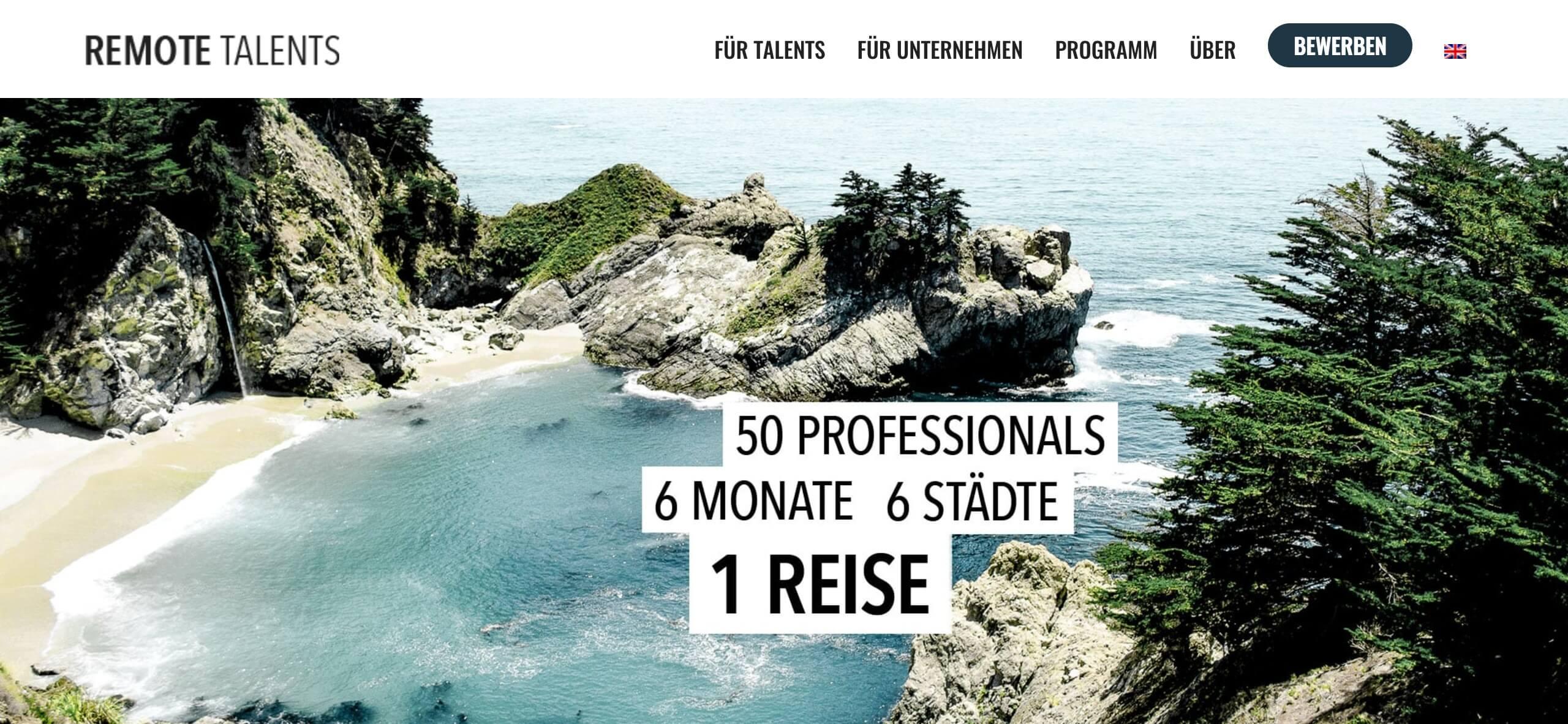 Remote Talents Startseite