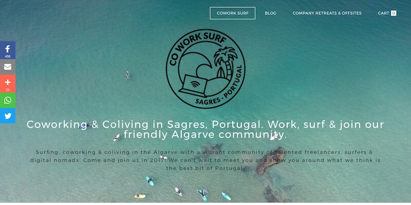 Coliving in Europa Cowork Surf in Portugal Coliving coworking and surfing retreats in Sagres