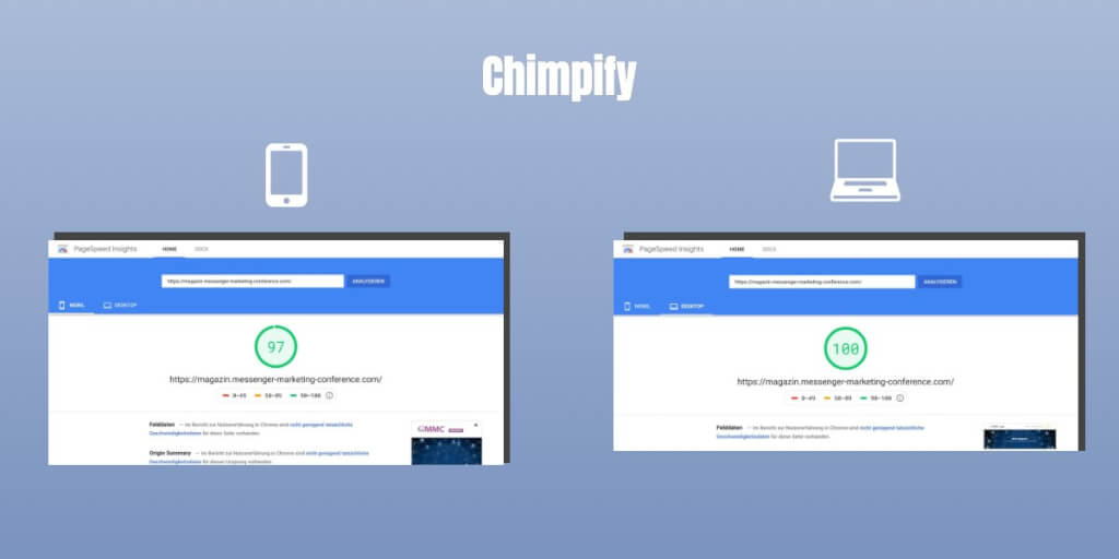 Blog Relaunch Ladezeit Chimpify