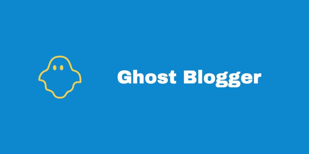 Ghost Blogger   was ist das