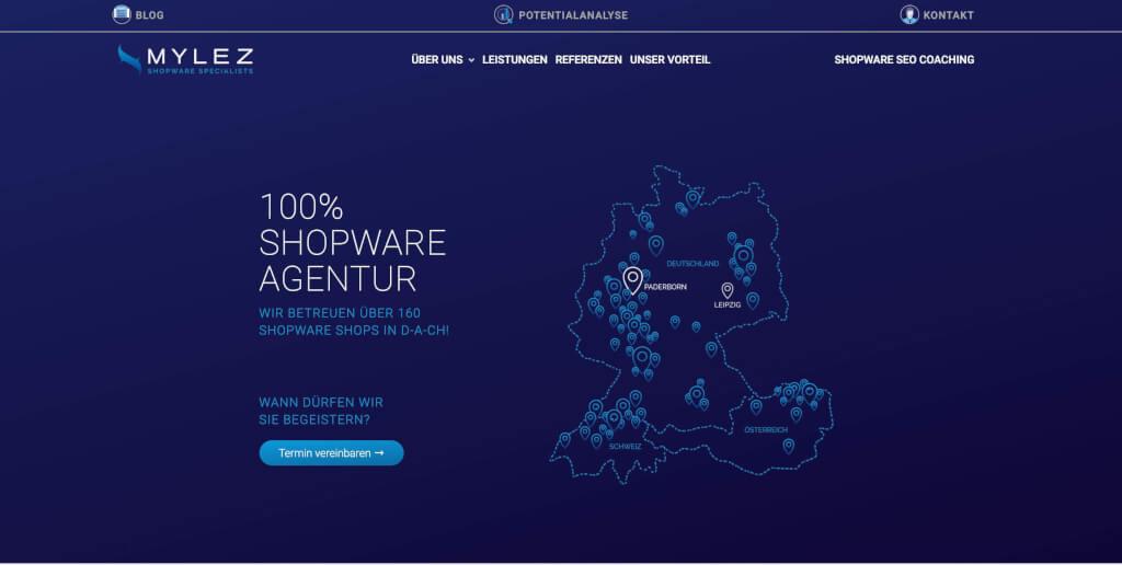 Shopware Agentur 8mylez 100 spezialisiert auf SW 5 6 1
