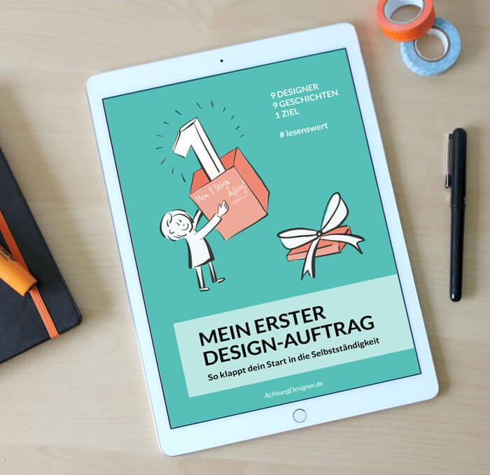"""E-Book """"mein erster Design-Auftrag"""" © Gudrun Wegener / Achtung Designer"""