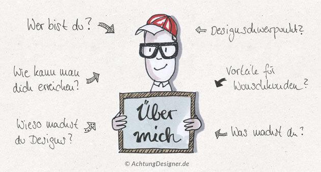 Illustration - Über mich-Seite für Designer