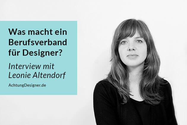 Interview Leonie Altendorf - Berufsverband für Designer