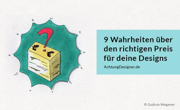 9 Wahrheiten über den richtigen Preis - Illustration © Gudrun Wegener
