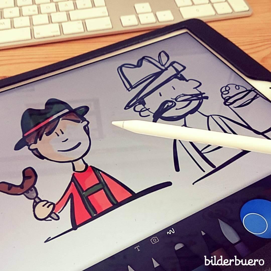Schnelle Skizzen und Entwürfe zeichne ich am liebsten mit Paper 53 auf dem iPad