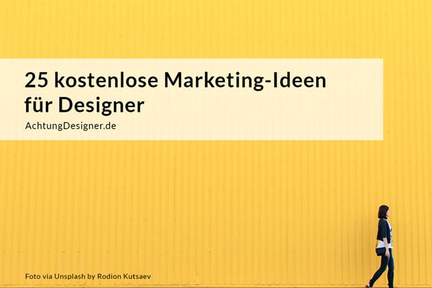 Kostenlose Marketing-Ideen für Designer