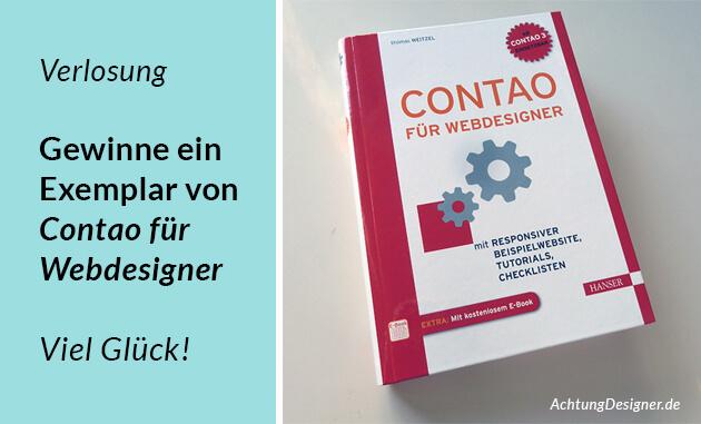 """Verlosung: Mach mit und gewinne 1 von 10 Exemplaren von """"Contao für Webdesigner"""""""