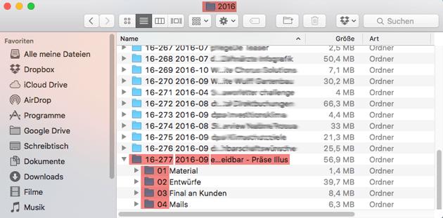 Meine Ablage von Kundenaufträgen / Jahresabschluss digital @Achtung Designer Gudrun Wegener