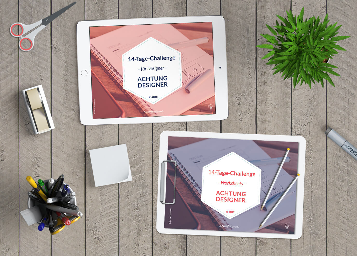Die 14-Tage-Challenge für Designer - Selbstlern-Kurs / © Gudrun Wegener von AchtungDesigner.de