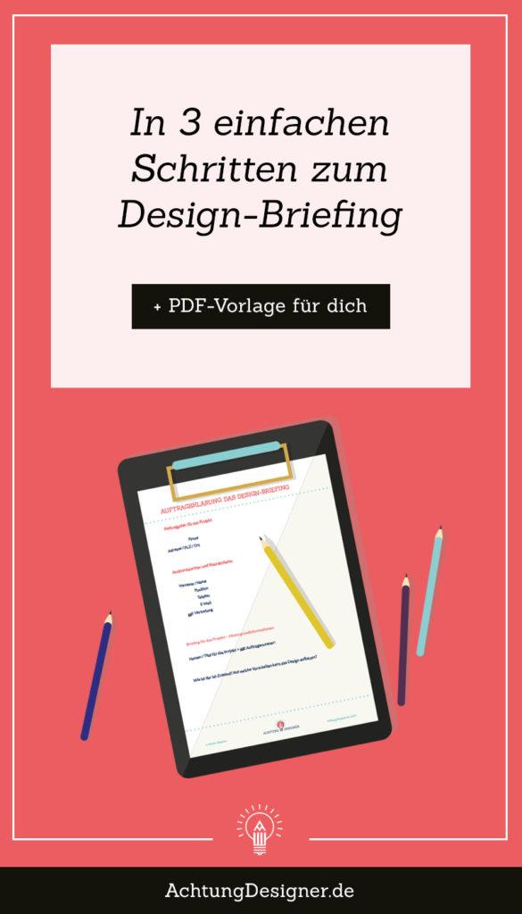 In 3 einfachen Schritten zum Design-Briefing