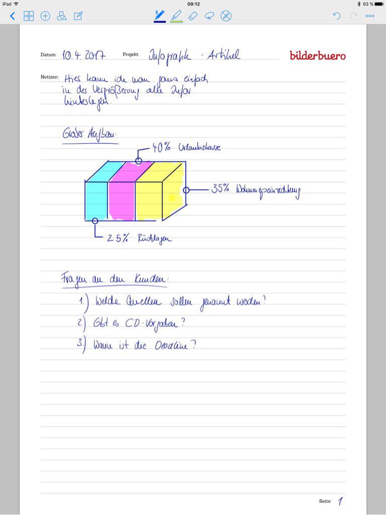 Tools für Designer - Good Notes - Details scribblen