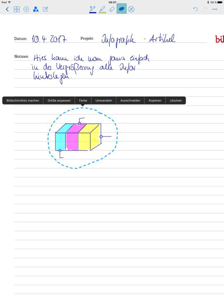 Tools für Designer - Good Notes - Details anpassen