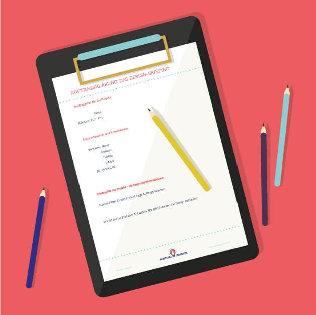 Illustration - Vorlage für dein Design-Briefing / © Gudrun wegener von AchtungDesigner.de
