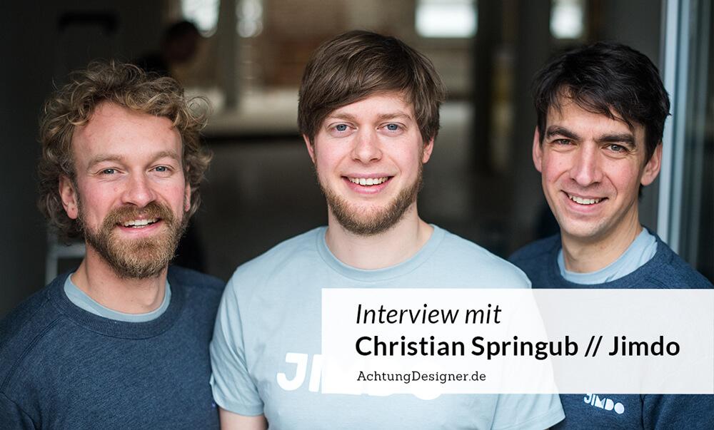 Interview mit Christian Springub von Jimdo / Achtung Designer.de