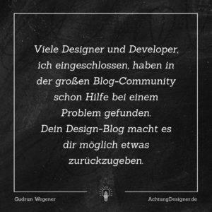 So viel kann dein Design-Blog für dich erreichen! #Designer #Blog #Community