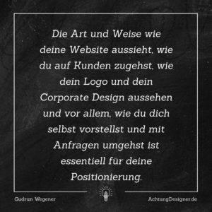 Kannst du deinen Designschwerpunkt in einem Wort beschreiben? #design #positionierung