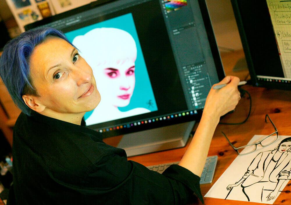 Designerin Beate Rocholz