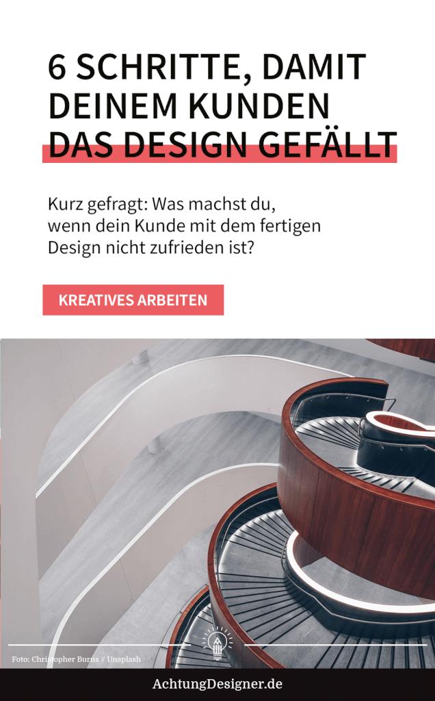 Kurz gefragt: Was machst du, wenn dein Kunde mit dem fertigen Design nicht zufrieden ist?
