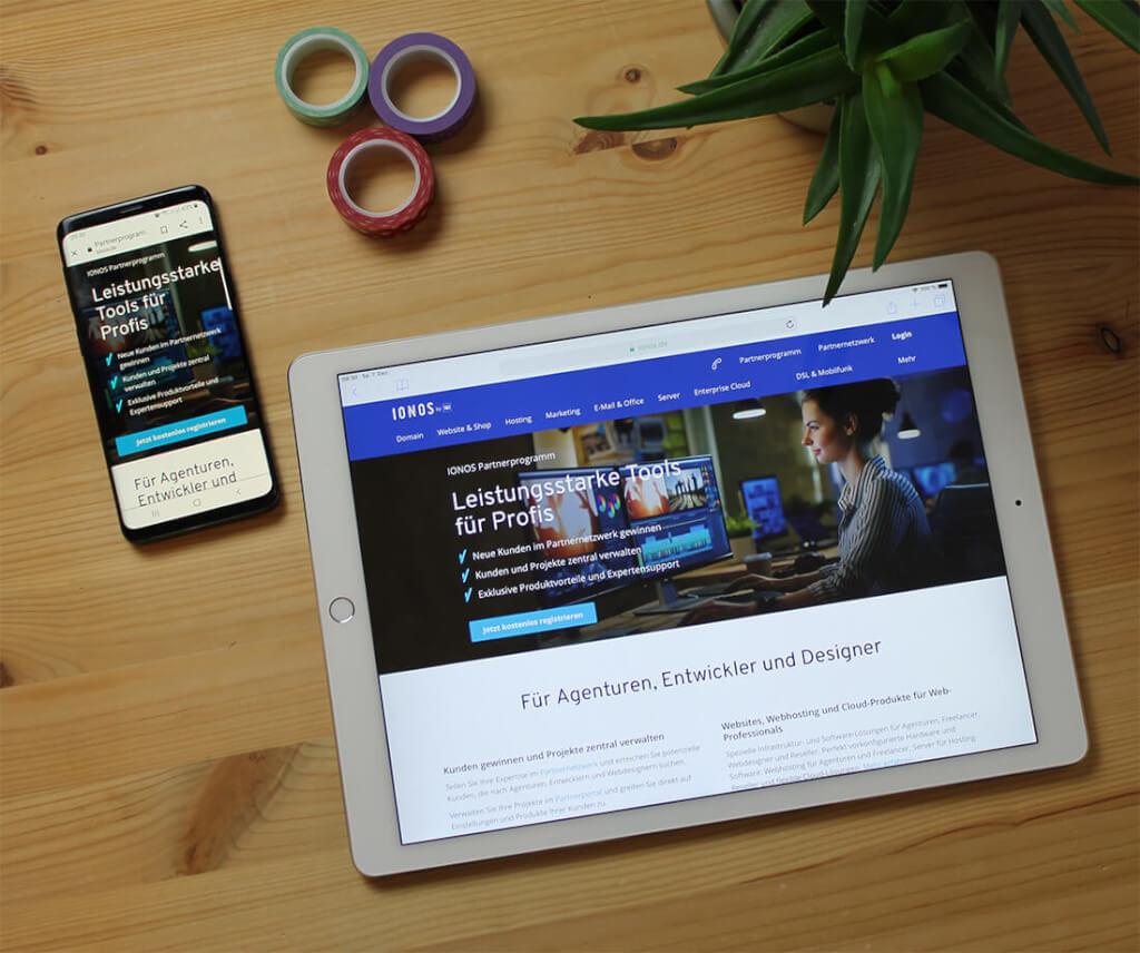 Das IONOS Partnerprogramm ist kostenlos für Designer.